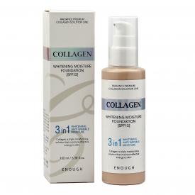 Enough тональный крем collagen whitening moisture foundation