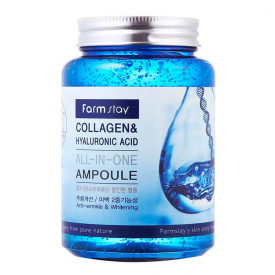 Сыворотка farm stay collagen hyaluronic acid all-in-one ampoule