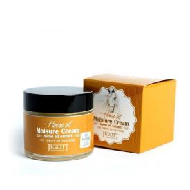 Jigott увлажняющий крем с лошадиным маслом horse oil moisture cream