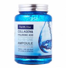 Сыворотка farm stay collagen hyaluronic acid all-in-one ampoule